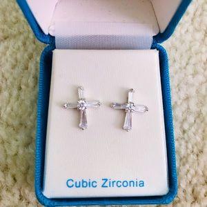Jewelry - Cross Cubic Zirconia Earrings